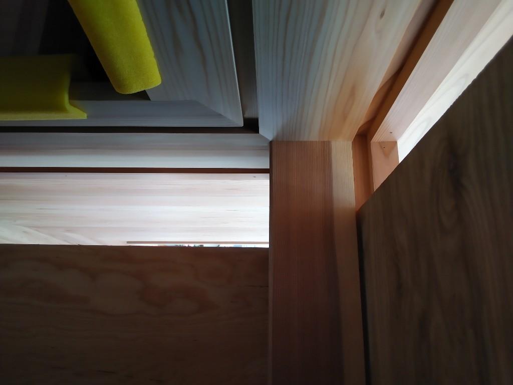 木枠、床張、外壁仕舞
